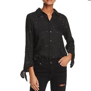 Rails Robyn Black Embroidered Star Print Size XS